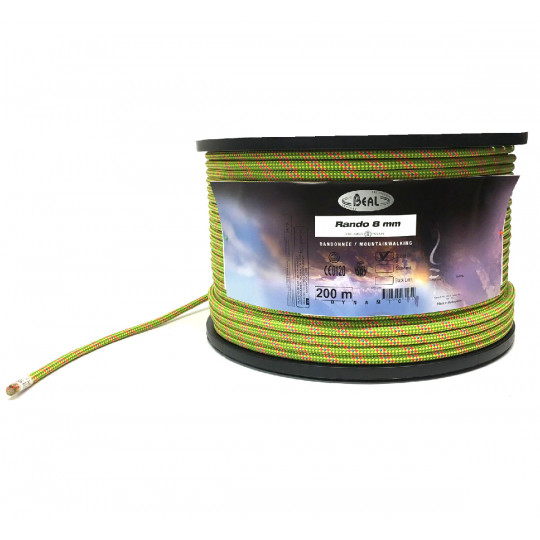 Corde de Randonnée RANDO 8mm GOLDENDRY verte BEAL en vente au mètre