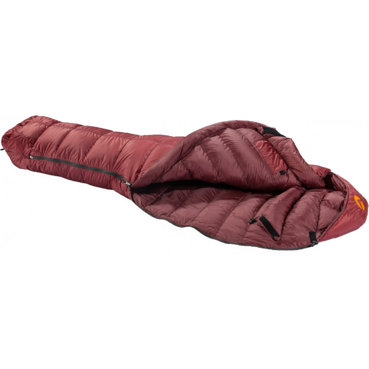 Sac de couchage plume SWING 500 NEO rouge-marron M Valandre