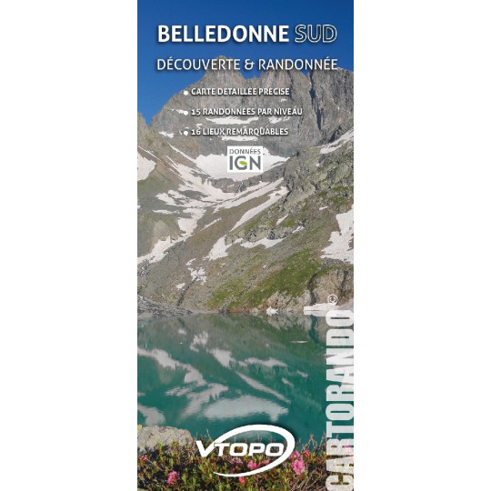 Carte topo IGN BELLEDONNE SUD 36000ème VTOPO