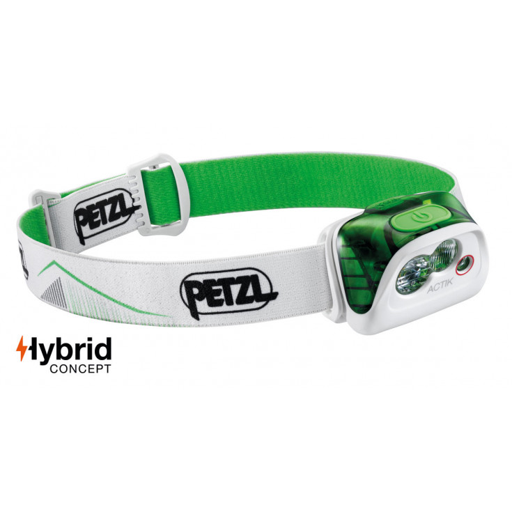Lampe frontale ACTIK vert-blanc 350 lumens Petzl 2020