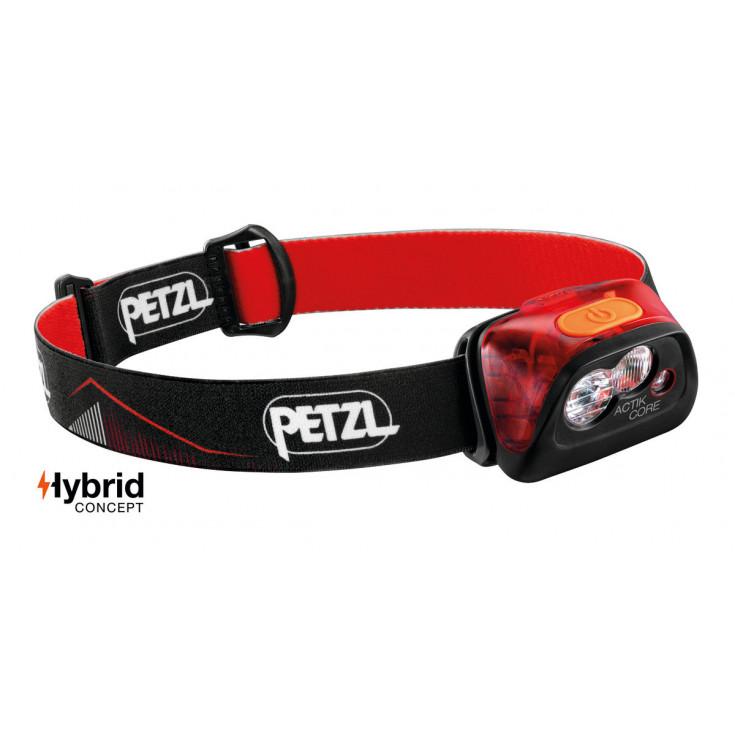 Lampe frontale rechargeable ACTIK CORE rouge 450 lumens Petzl 2020