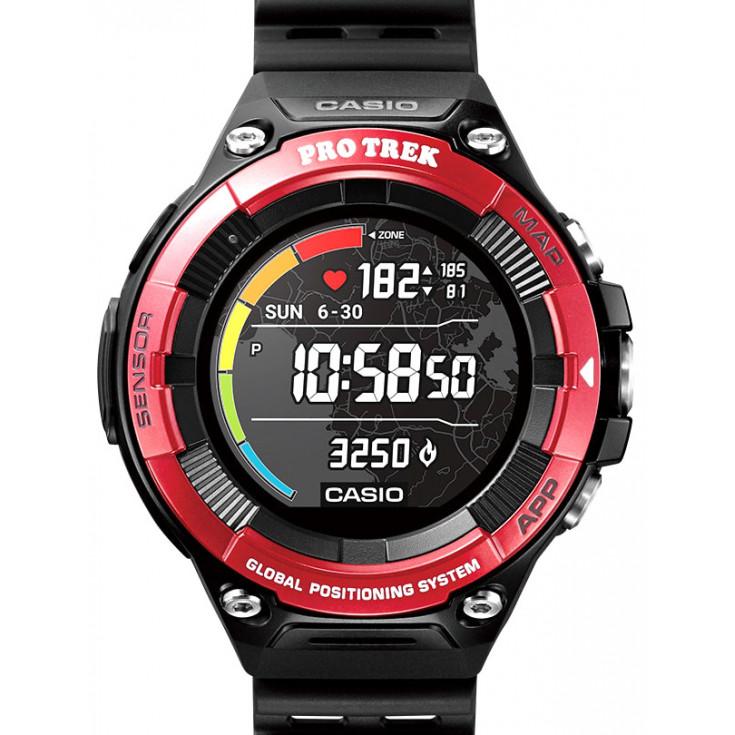Montre cardio altimètre GPS CASIO WSD-F21HR-RD rouge PRO TREK Smart