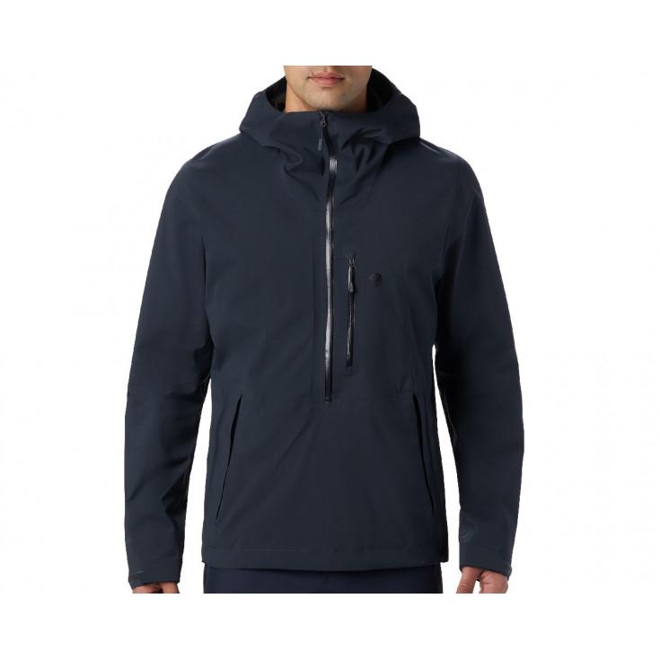 Veste GORE-TEX PACLITE STRETCH 1/2 ZIP homme 2.5L Exposure Jacket Dark-Storm Mountain Hardwear F19-20