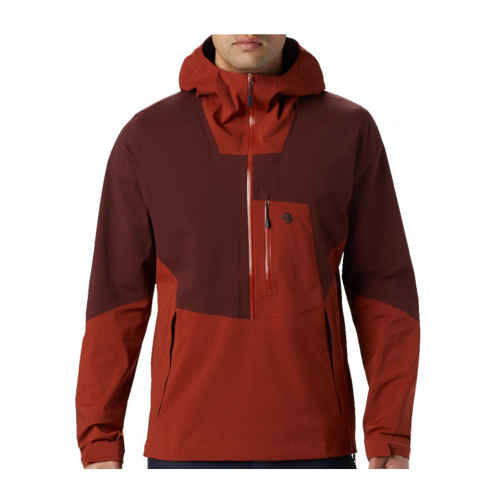 Veste GORE-TEX PACLITE STRETCH 1/2 ZIP homme 2.5L Exposure Jacket Rusted Mountain Hardwear F19-20
