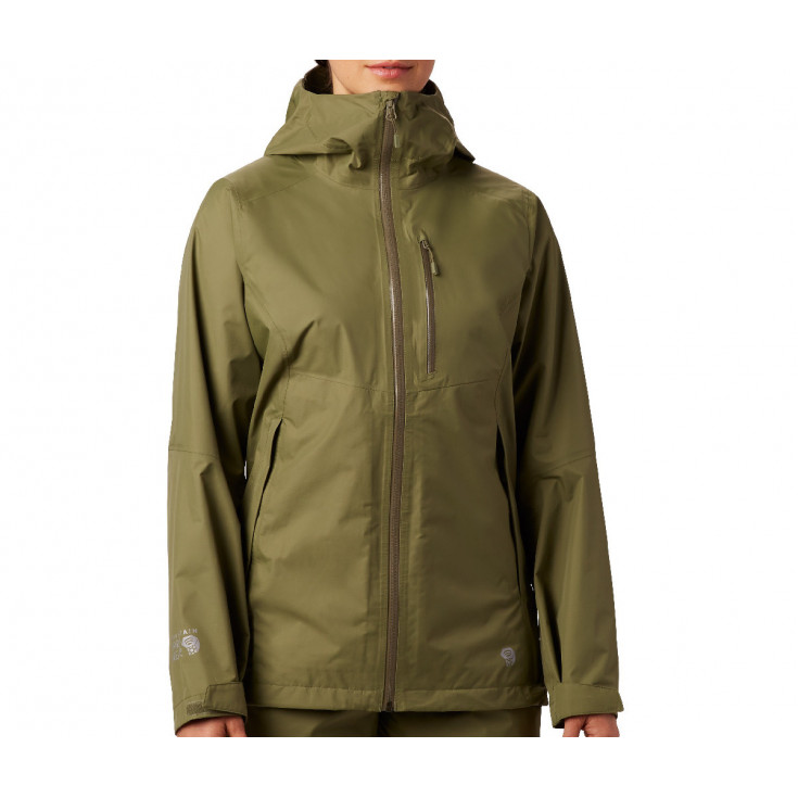 Veste GORE-TEX PACLITE femme 2.5L Exposure Jacket Light-Army Mountain Hardwear F19-20