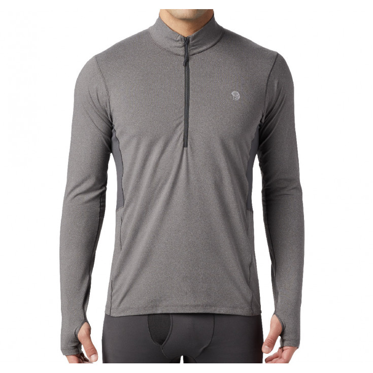 Tee-shirt respirant manches longues homme GHEE 1/2 ZIP Heather-Shark Mountain Hardwear