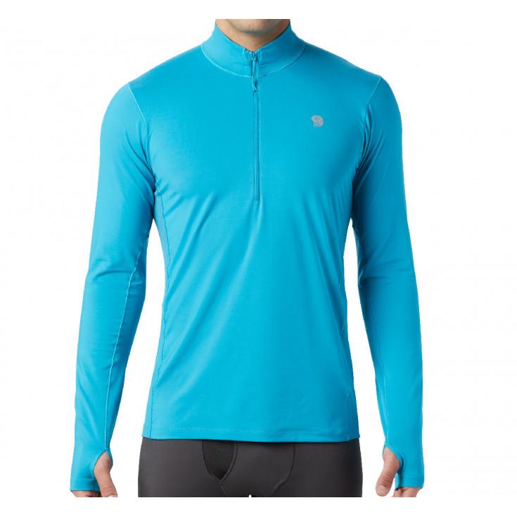 Tee-shirt respirant manches longues homme GHEE 1/2 ZIP traverse Mountain Hardwear