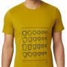 Tee-shirt homme REFER TO REAL LIFE Dark-Citron Mountain Hardwear F19-20
