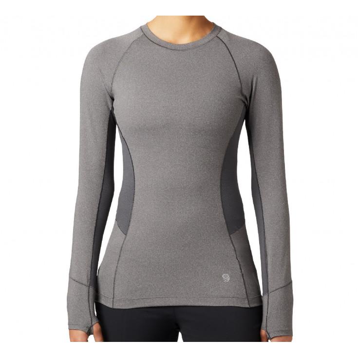 Tee-shirt respirant manches longues femme GHEE Shark-Heather Mountain Hardwear