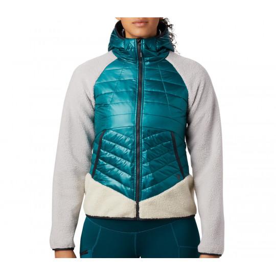 Polaire-Doudoune à capuche femme ALTIUS HYBRID HOODY Dive Mountain Hardwear F19-20