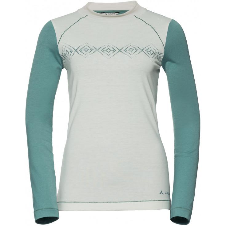 Tee-shirt respirant femme à manches longues SKOMER Women's Offwhite Vaude