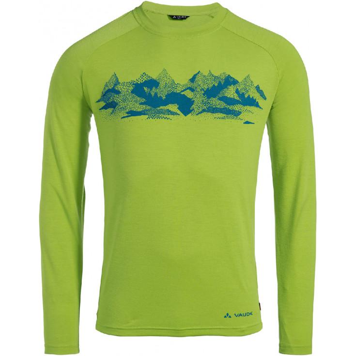 Tee-shirt respirant homme à manches longues GLEANN LS Chute-Green Vaude