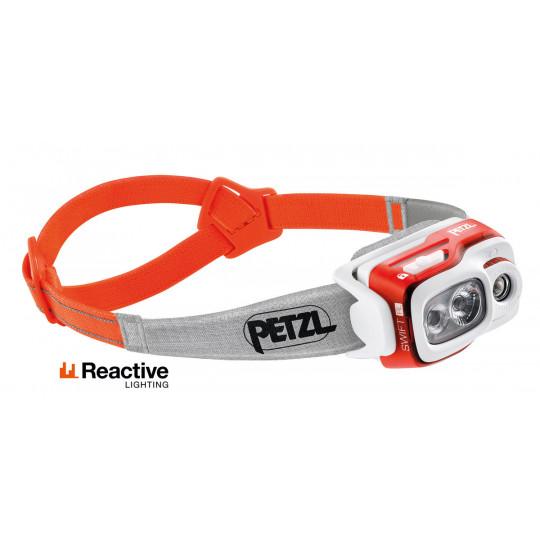 Lampe frontale rechargeable SWIFT RL orange 900 lumens Petzl