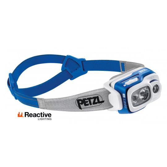 Lampe frontale rechargeable SWIFT RL bleu 900 lumens Petzl