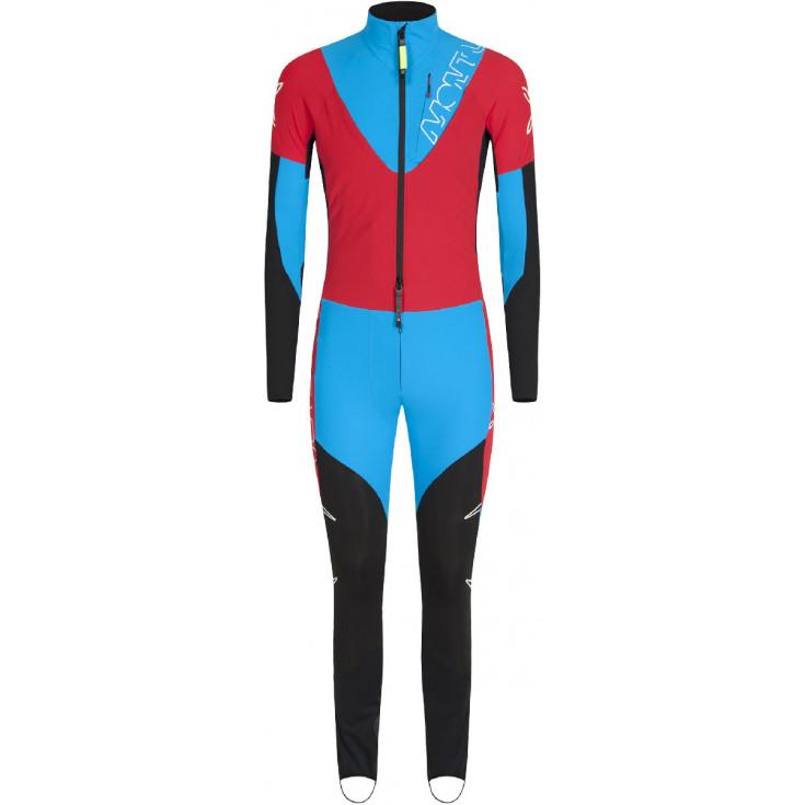 Combinaison ski alpinisme VIKING OVERALL rouge bleu Montura