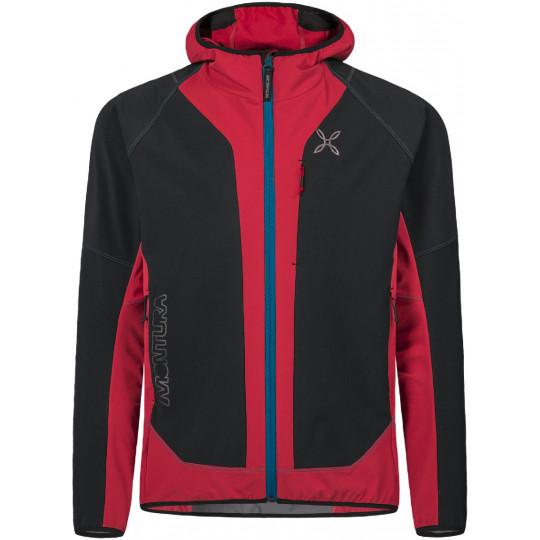 Veste à capuche softshell X-MIRA noir-rouge Montura