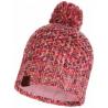 Bonnet à pompon KNITTED & POLAR HAT MARGO Flamingo-Pink Buff