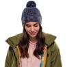 Bonnet à pompon KNITTED & POLAR HAT MARGO Blue Buff