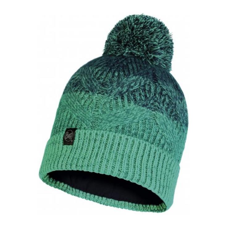 Bonnet à pompon KNITTED & POLAR HAT MASHA turquoise Buff