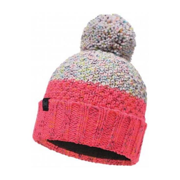 Bonnet à pompon KNITTED & POLAR HAT JANNA Cloud-Pink Buff