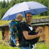 Parapluie randonnée main libre SWING couleur noir EuroSCHIRM
