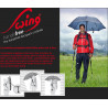 Parapluie randonnée main libre SWING couleur rouge EuroSCHIRM