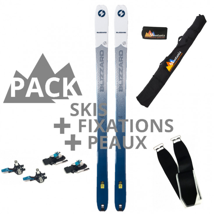 Pack ski de rando femme ZERO G 85 ice-blue 157cm Blizzard 2020