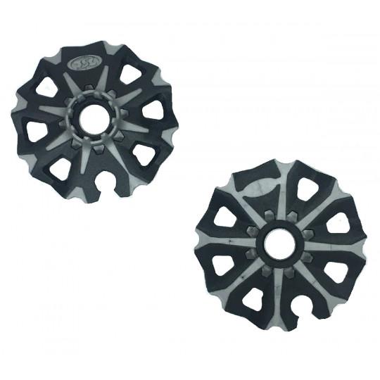 Kit rondelles SWING Alu 85 noir-gris TSL (la paire)
