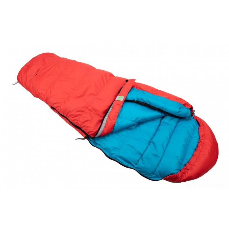 Sac de couchage enfant duvet plume KIKI DOWN 125-145cm rouge SirJoseph