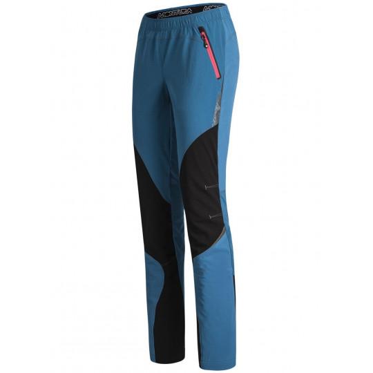 Pantalon Softshell femme VERTIGO LIGHT PANTS WOMAN blu-ottanio Montura