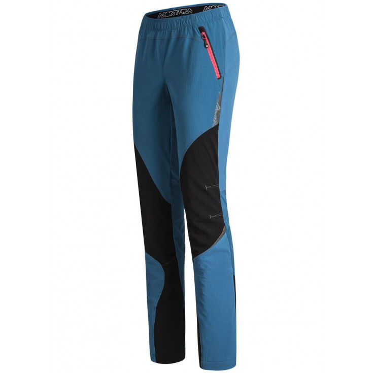 Pantalon Softshell femme VERTIGO LIGHT PANTS WOMAN blu-ottanio Montura