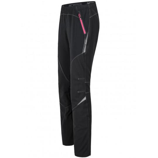 Pantalon Softshell femme VERTIGO LIGHT PANTS WOMAN nero-rosa Montura