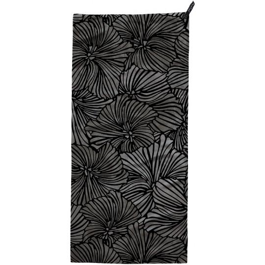 Serviette microfibre ULTRALITE corps L bloom-noir Packtowl