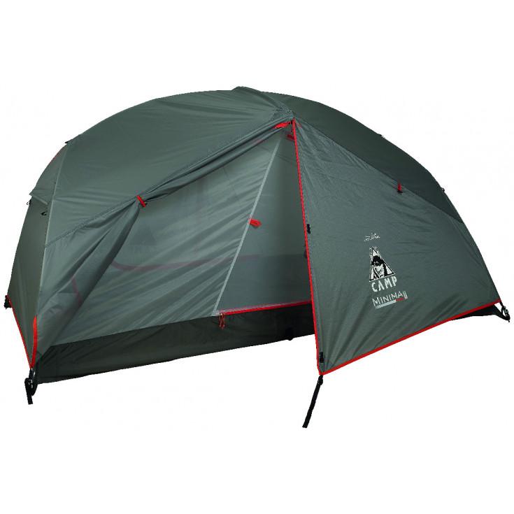 Tente de randonnée MINIMA 2 PRO gris-rouge CAMP