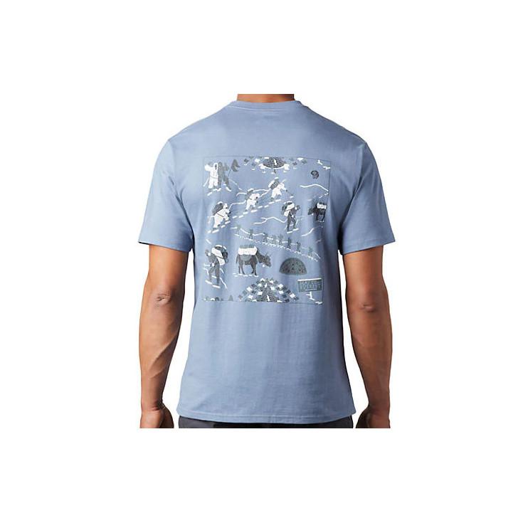Tee-shirt homme HOTEL BASECAMP light-zinc Mountain Hardwear 2020