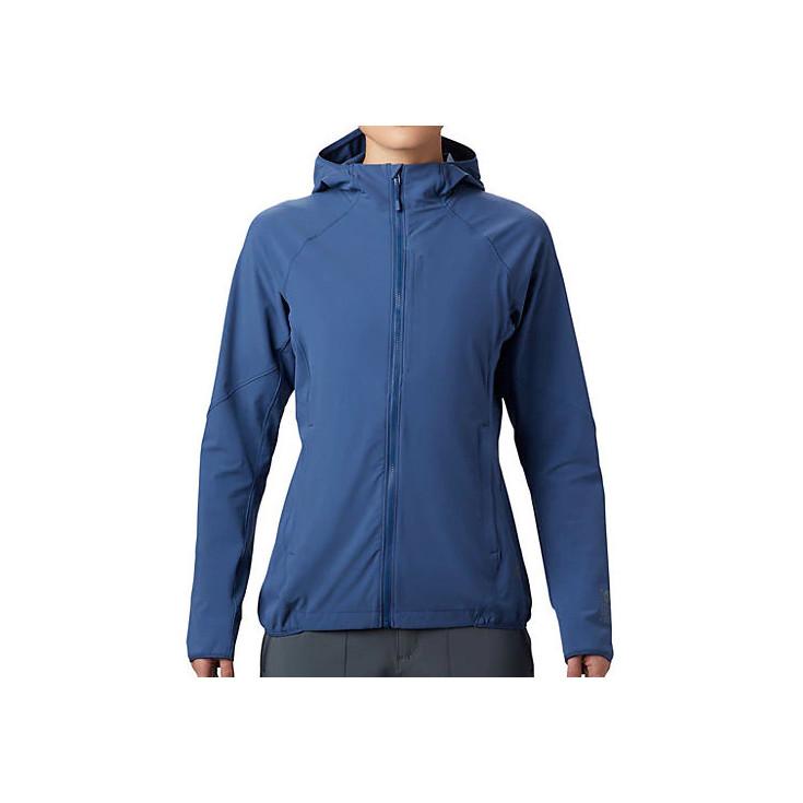Veste softshell à capuche femme CHOCKSTONE FULL ZIP HOODY better-blue Mountain Hardwear