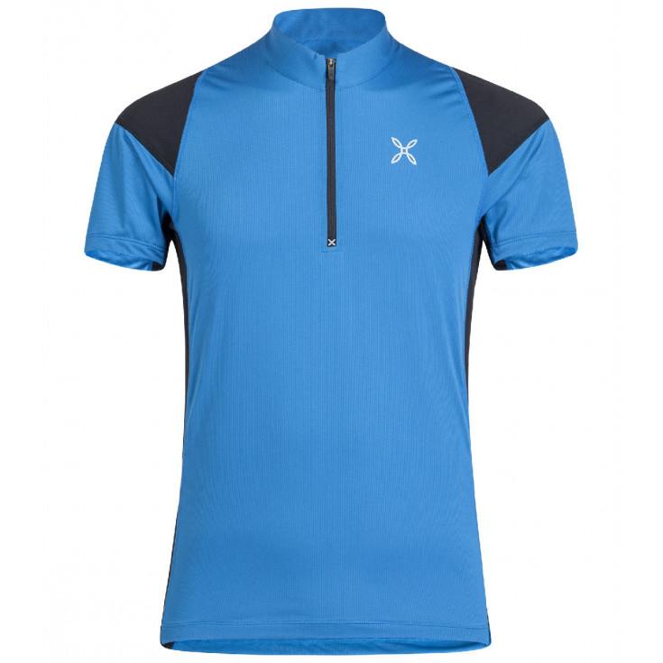 Tee-shirt 1/4 zip homme WORLD GEO ZIP TEE celeste Montura