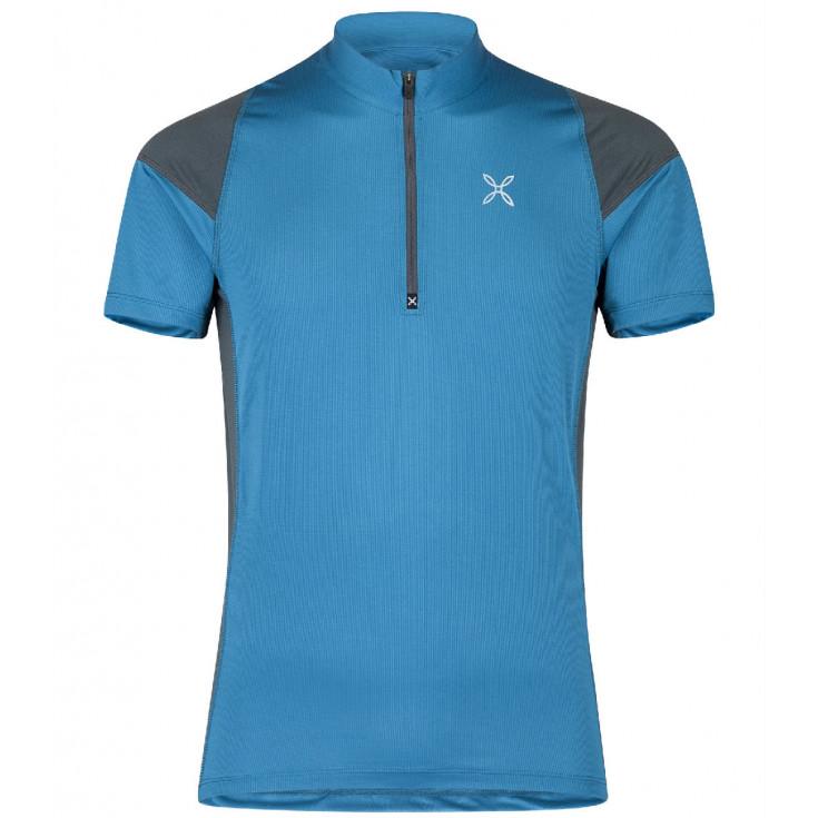 Tee-shirt 1/4 zip homme WORLD GEO ZIP TEE blu-ottanio Montura