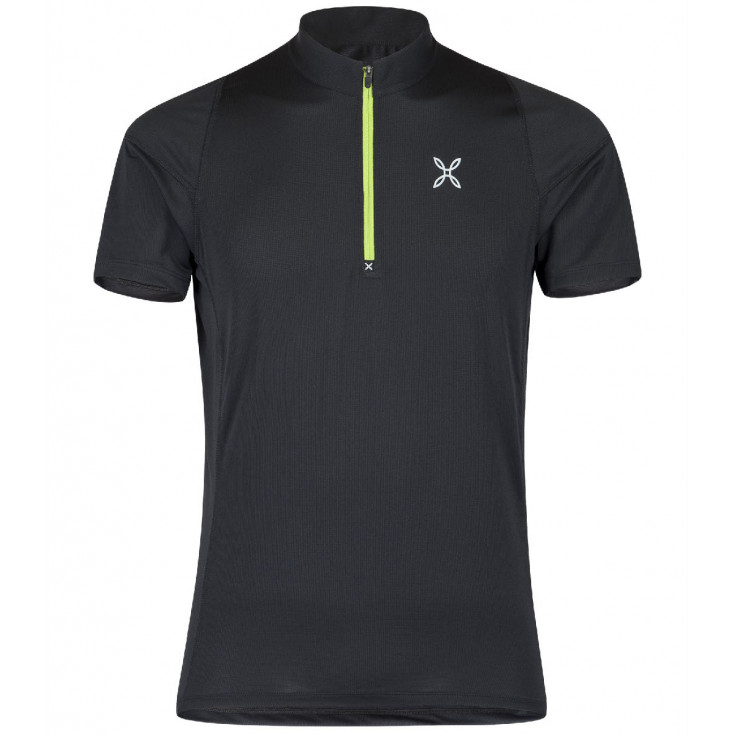 Tee-shirt 1/4 zip homme WORLD GEO ZIP TEE noir-vert Montura