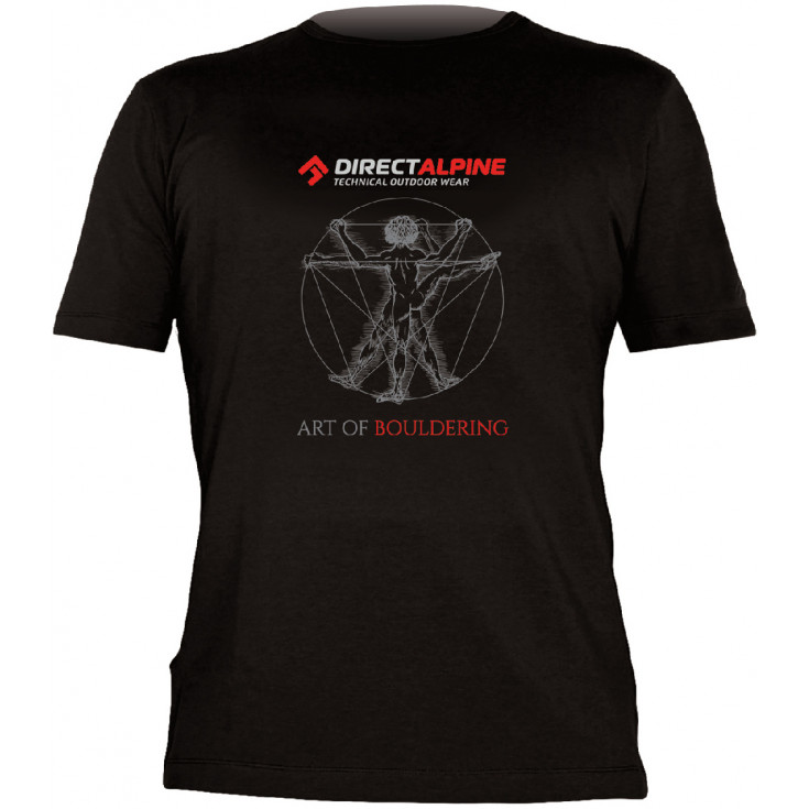 Tee-shirt FLASH ART OF BOULDERING noir DirectAlpine