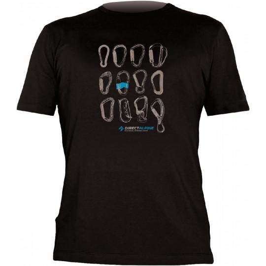 Tee-shirt FLASH CARABINERS black-blue DirectAlpine