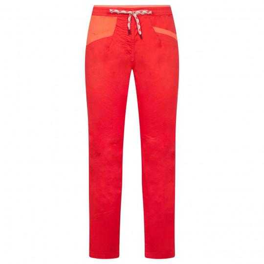 Pantalon femme coton bio TEMPLE PANT W hibiscus La Sportiva