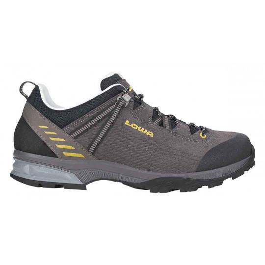 Chaussure cuir-cuir LEDRO LL LOW anthracite-kiwi Lowa