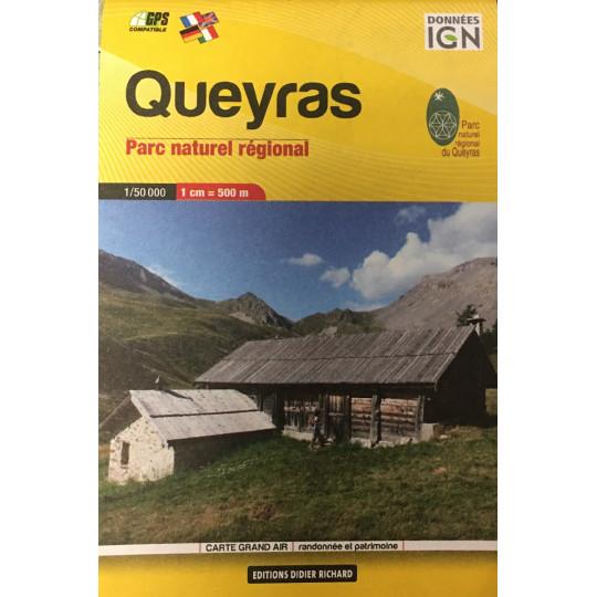 Carte de poche IGN 1/50000 Queyras - Parc Naturel régional - Editions Didier Richard