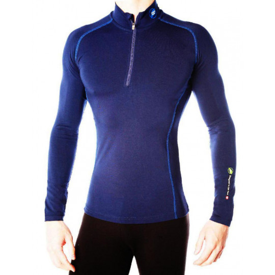 Tee-shirt fibre de bois 240 POINTE BLANCHE bleu-navy Natural Peak