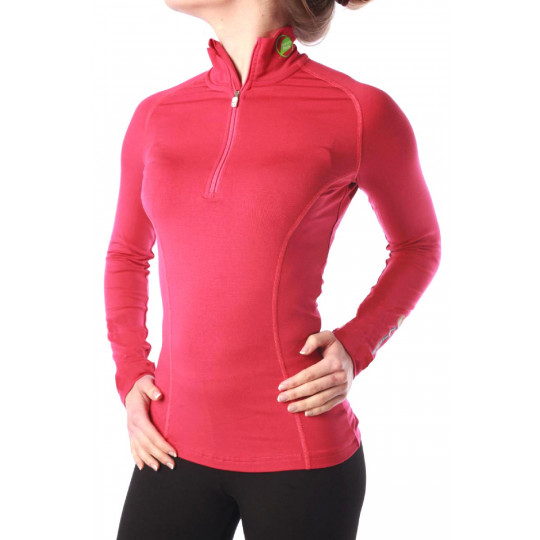 Tee-shirt fibre de bois femme 240 AIGUILLE VERTE fuschia Natural Peak