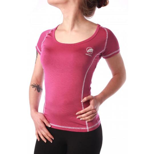 Tee-shirt fibre de bois femme 140 CHARVIN violet Natural Peak
