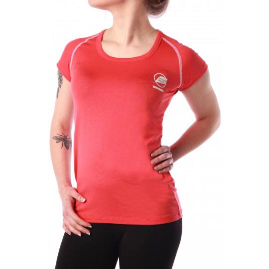 Tee-shirt fibre de bois femme 210 ECRINS rose-orange Natural Peak