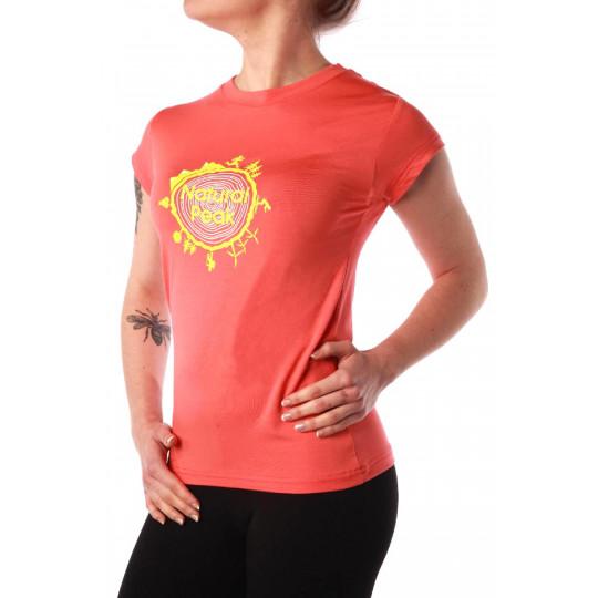 Tee-shirt fibre de bois femme 210 AROUND THE WORLD corail Natural Peak