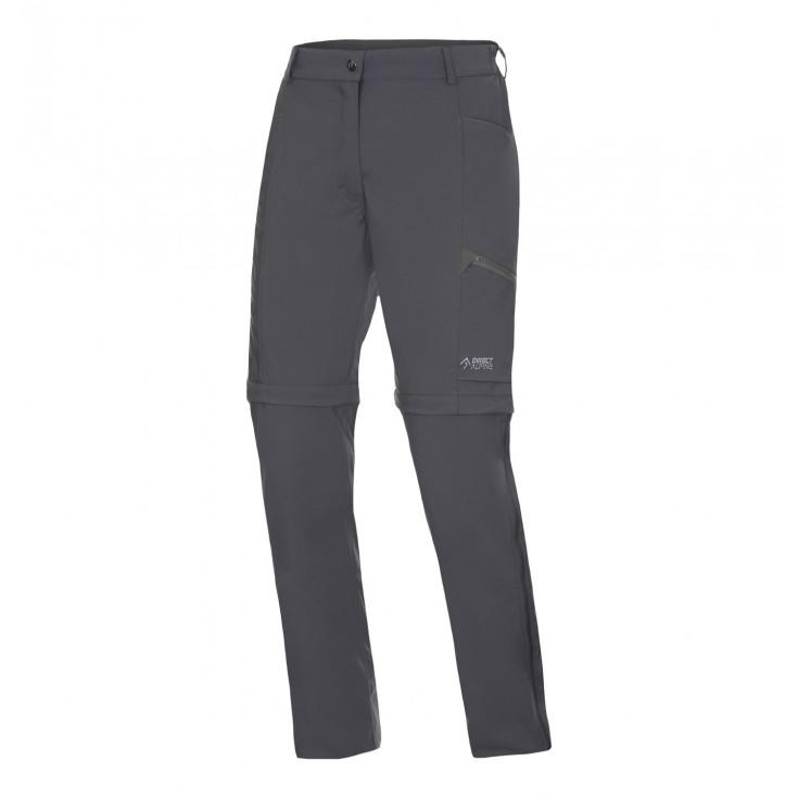 Pantalon de randonnée convertible femme BEAM ZIP OFF PLUS LADY anthracite-grey Directalpine
